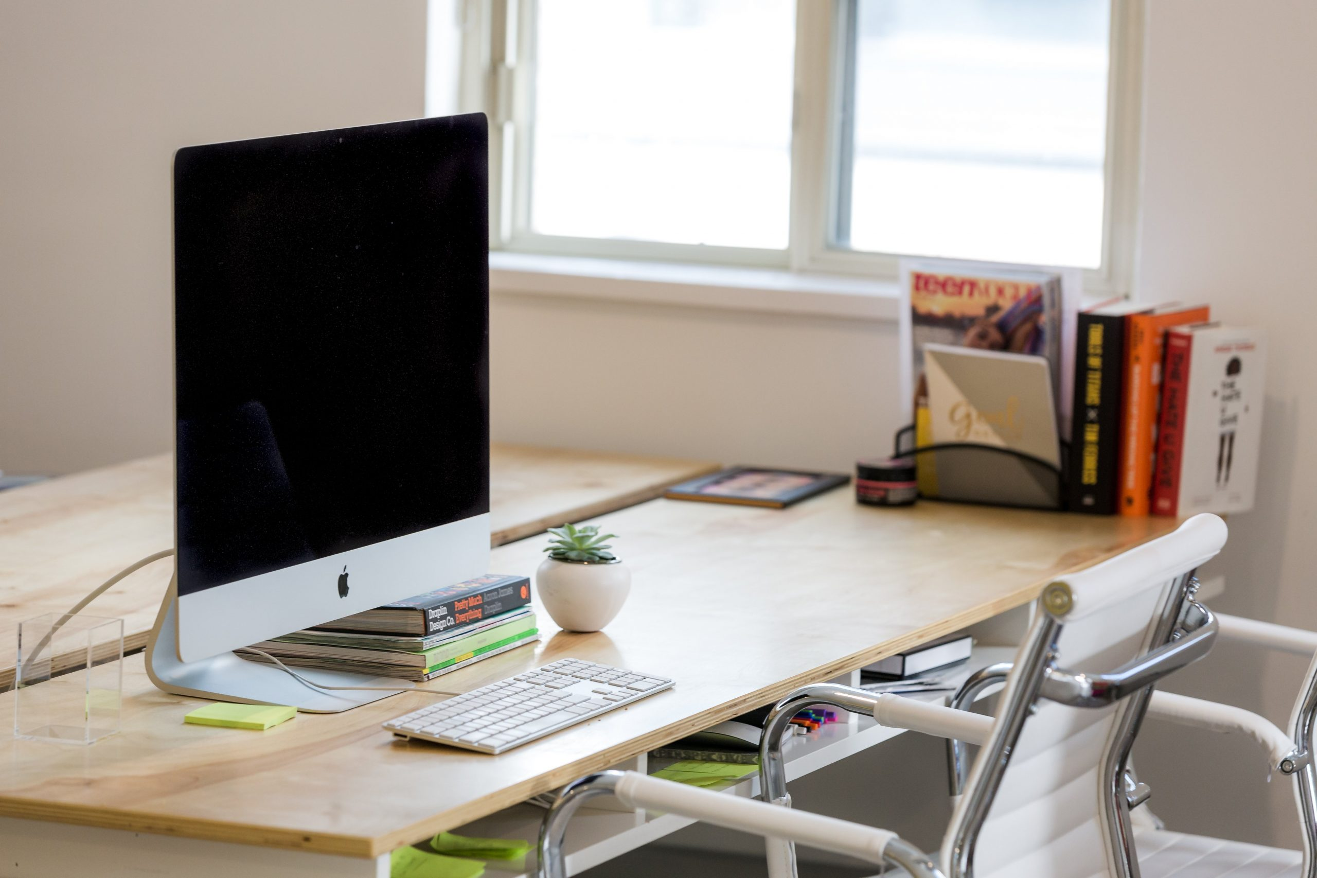 office desk in window light scaled